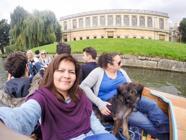 Those are my girls, Jade and Gibro touring me around Cambridge.